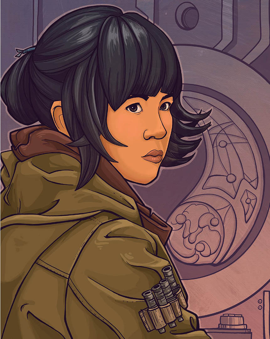 Rose Tico as seen in the book Women of the Galaxy.