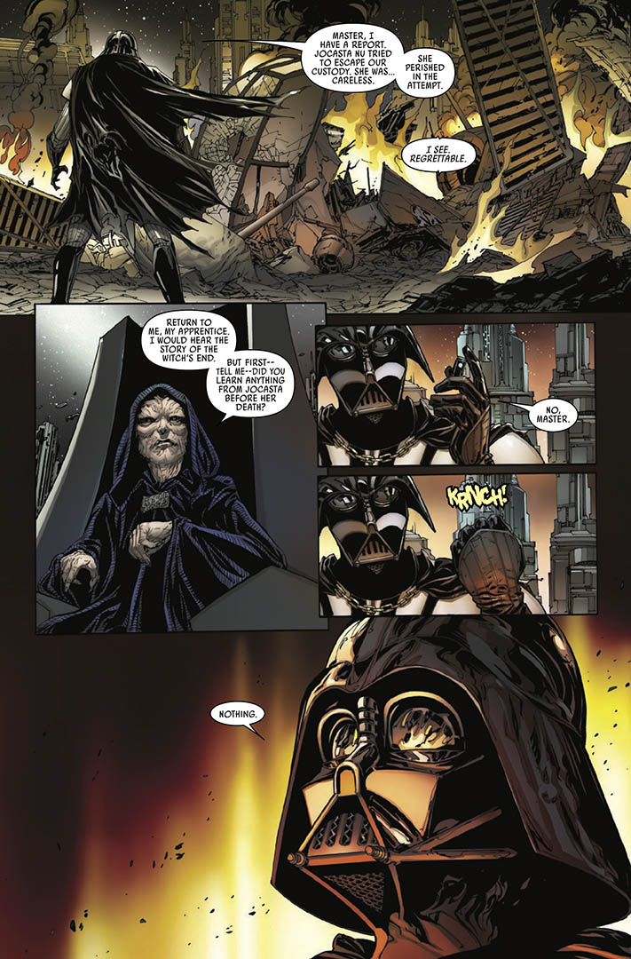 A page from Issue 10 of Marvel's Darth Vader: Dark Lord of the Sith.