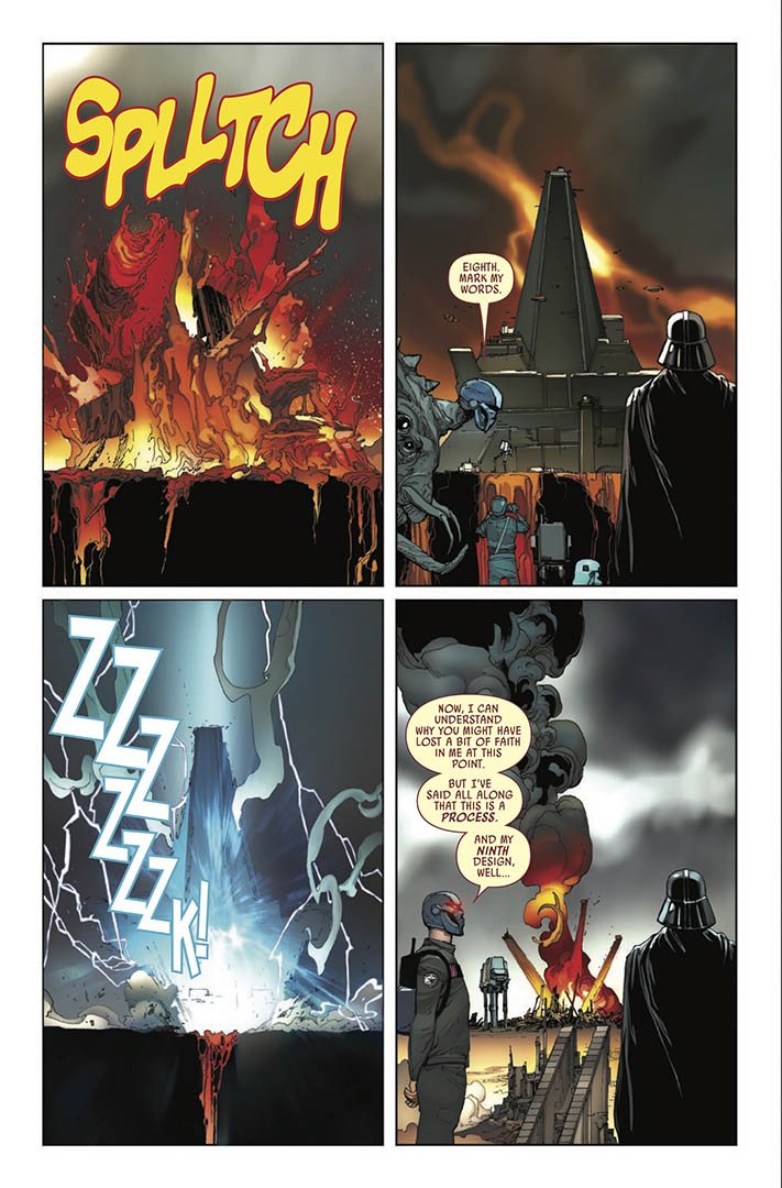 A page from Issue 23 of Marvel's Darth Vader: Dark Lord of the Sith.