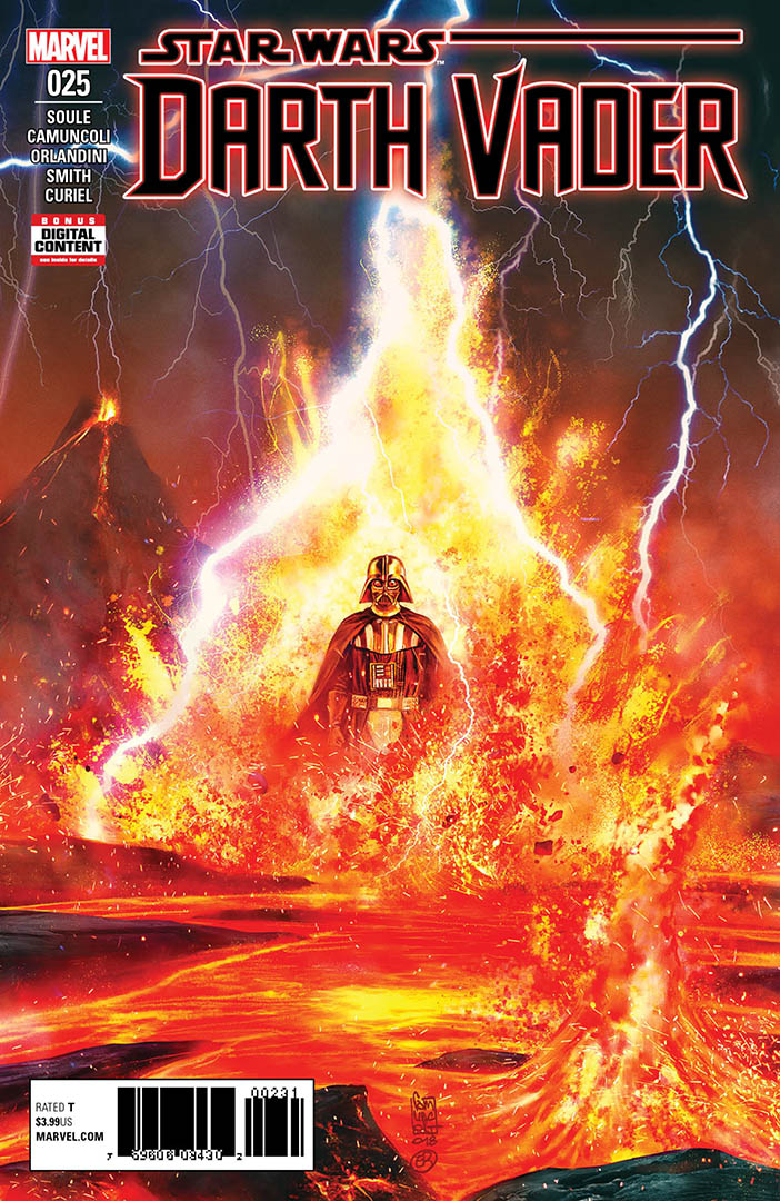 The cover of Issue 25 of Darth Vader: Dark Lord of the Sith.