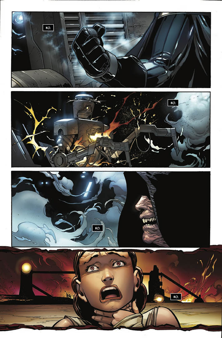 A page from Issue 1 of Marvel's Darth Vader: Dark Lord of the Sith.