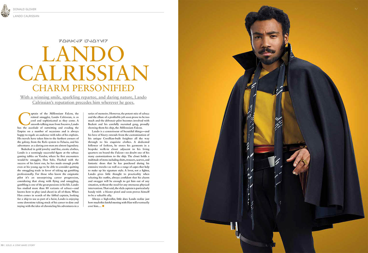 A spread from The Ultimate Guide to Solo: A Star Wars Story.