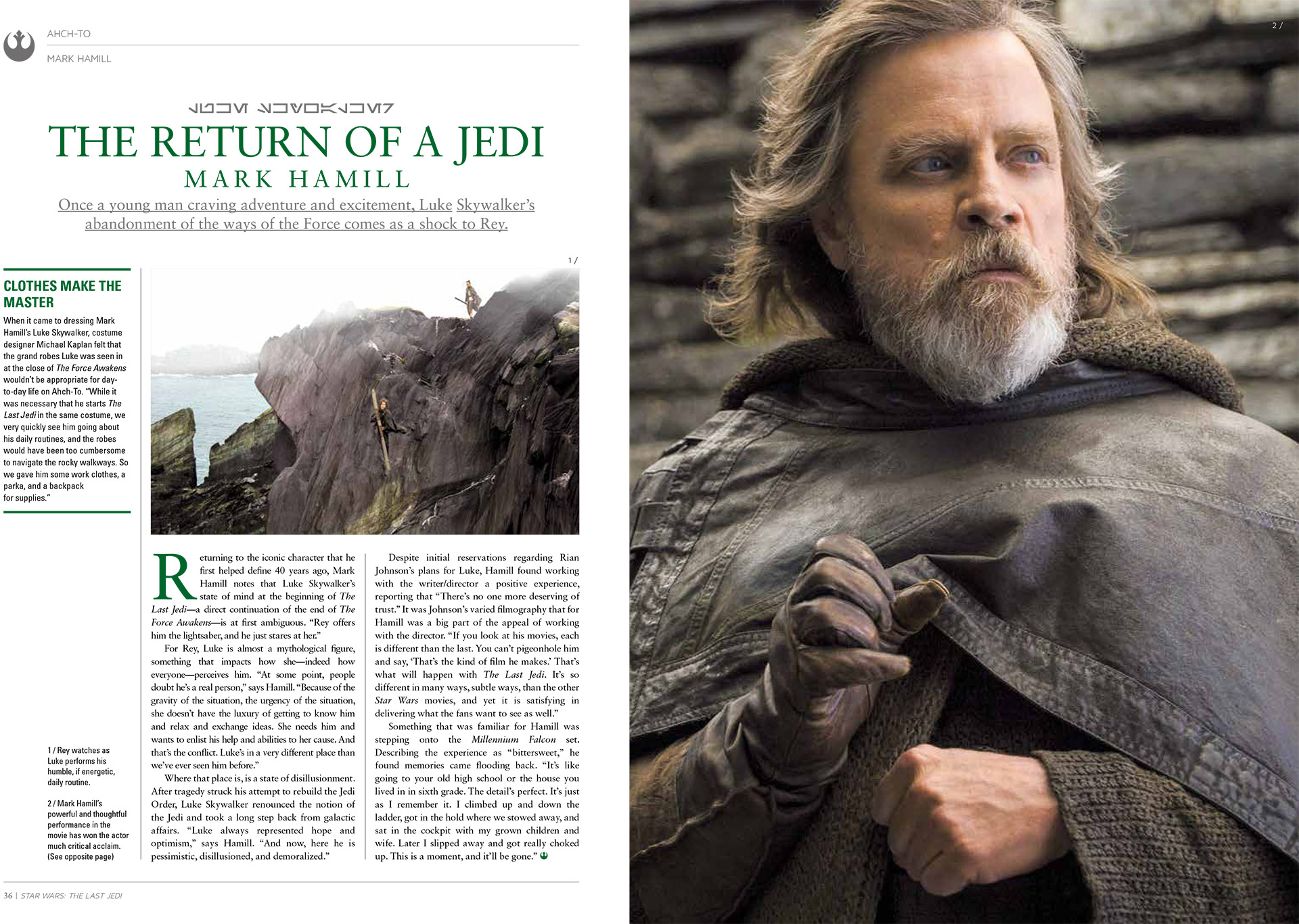 A spread from The Ultimate Guide to Star Wars: The Last Jedi.
