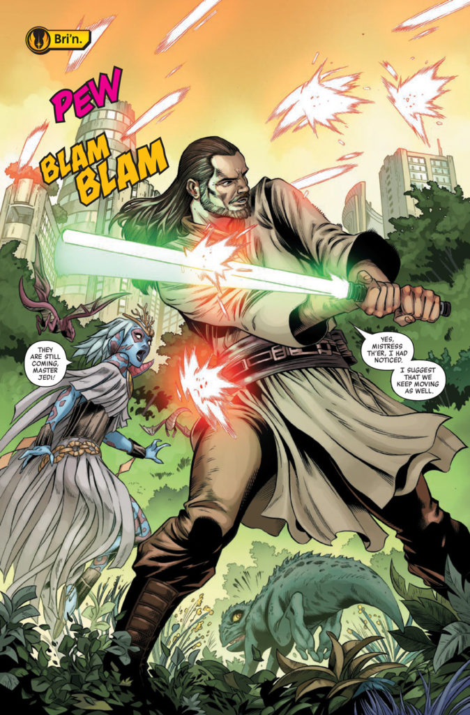 Qui-Gon Jinn battles in Age of Republic: Qui-Gon Jinn.
