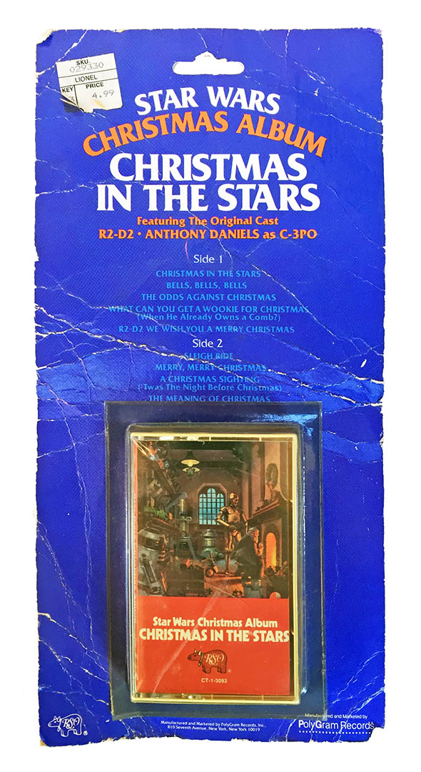 The carded cassette for the album Christmas in the Stars.