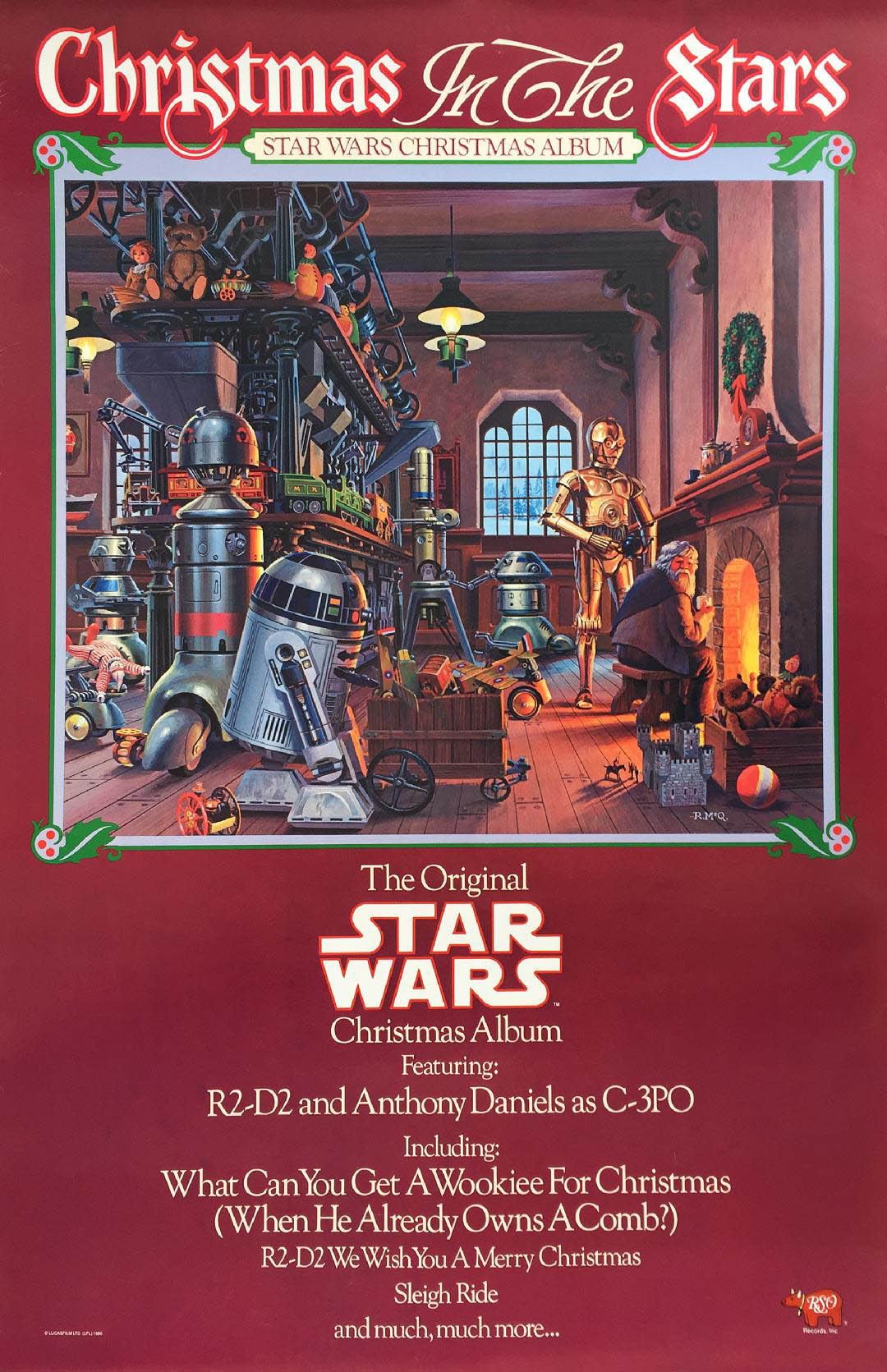 A poster for the album Christmas in the Stars.