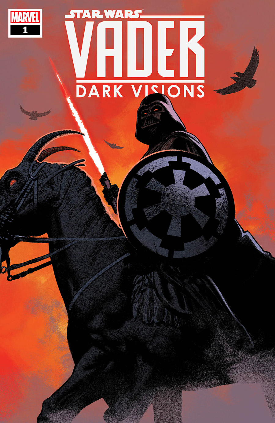The cover of Vader - Dark Visions issue 1.