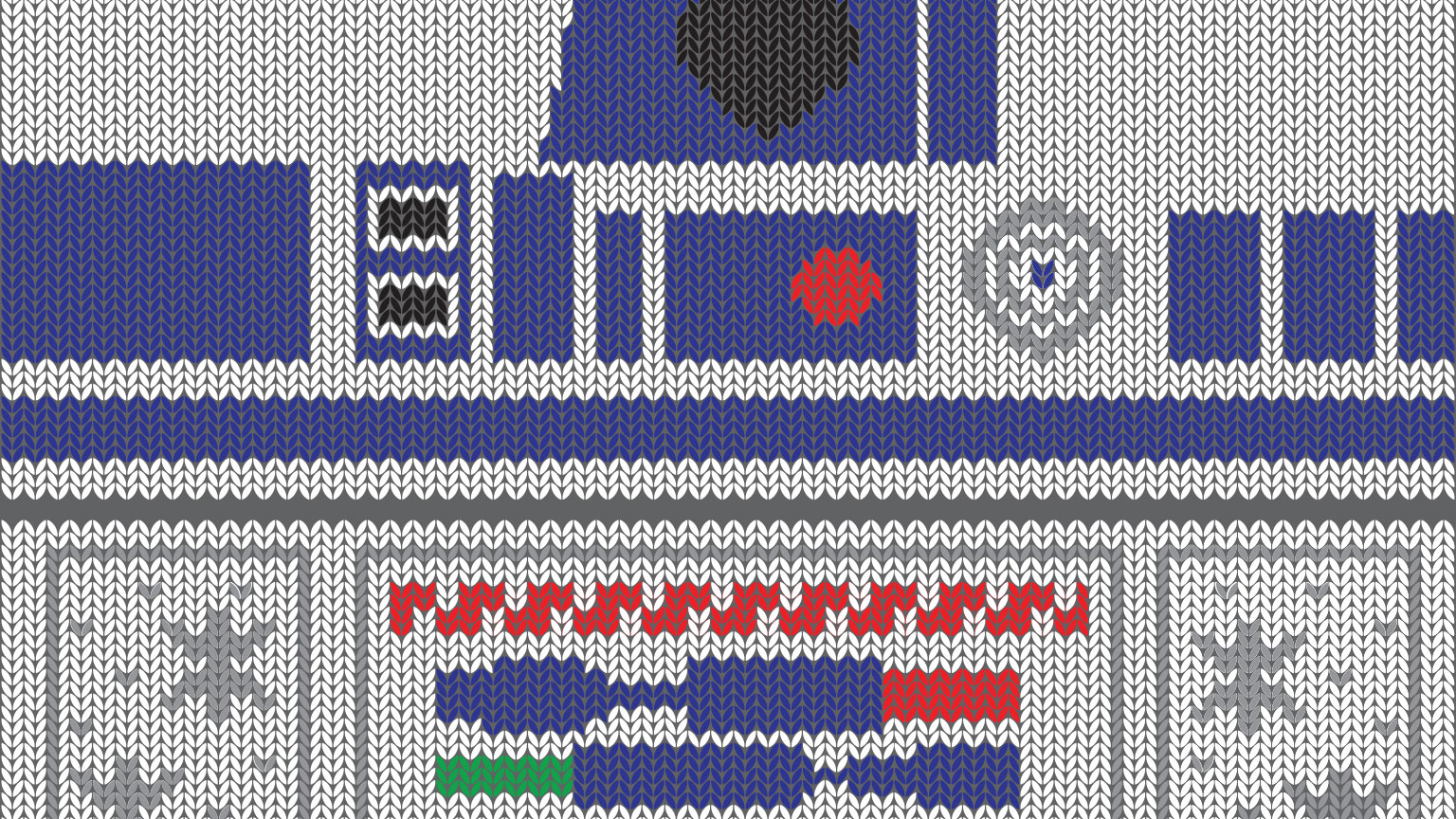 Ugly sweater Artoo wished you happy holidays!