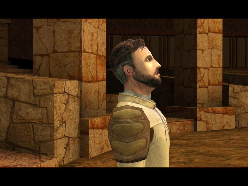 Kyle Katarn in Star Wars Jedi Knight II: Jedi Outcast.