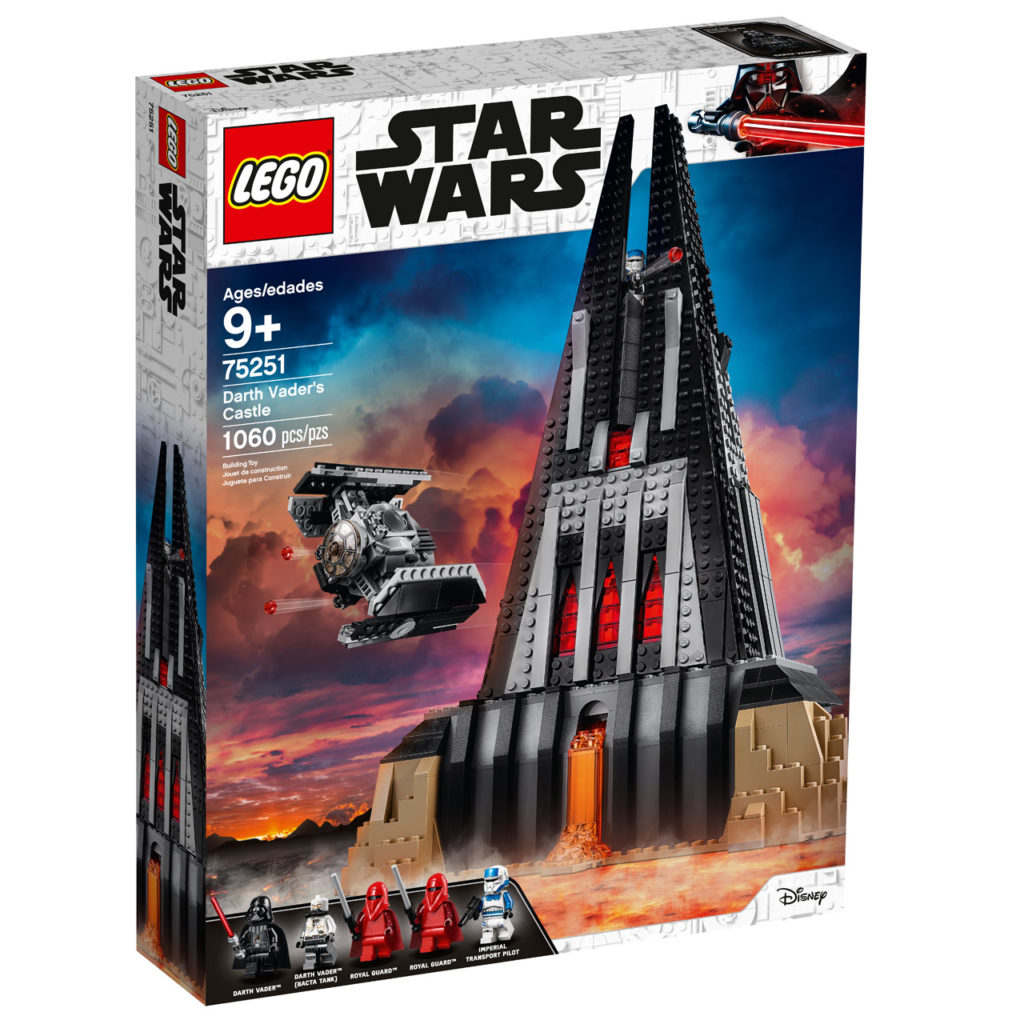LEGO Star Wars Darth Vader's Castle front box.