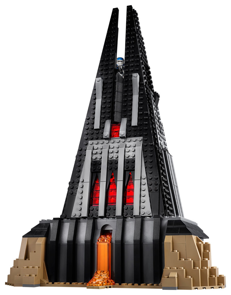 LEGO Star Wars Darth Vader's Castle exterior.