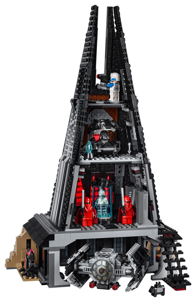 LEGO Star Wars Darth Vader's Castle interior.