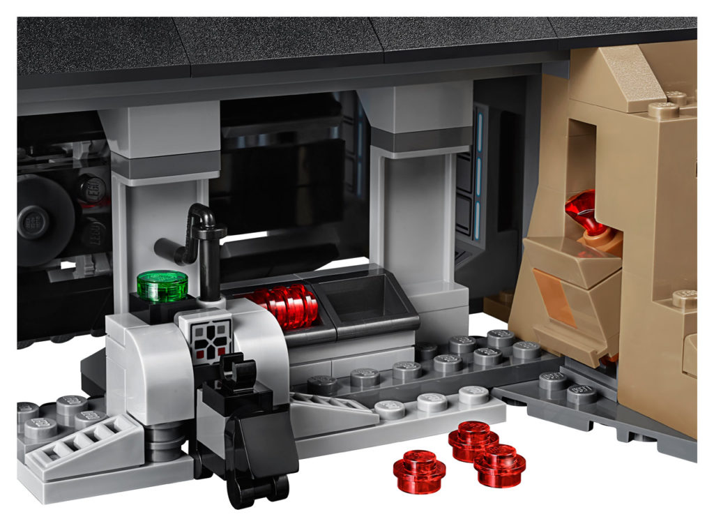 LEGO Star Wars Darth Vader's Castle - inside detail.