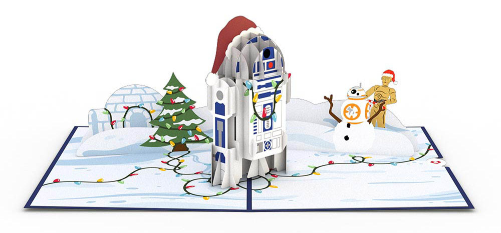 A Star Wars Lovepop card featuring R2-D2 for the holidays.