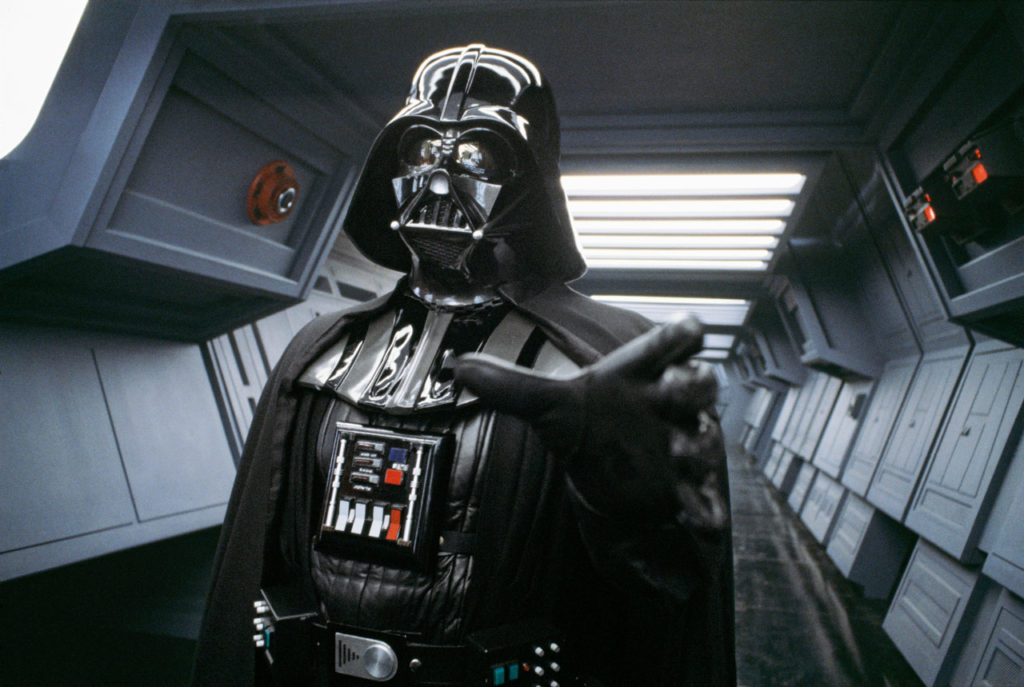 Star Wars Archives photo of Darth Vader from the set of Star Wars: Return of the Jedi.