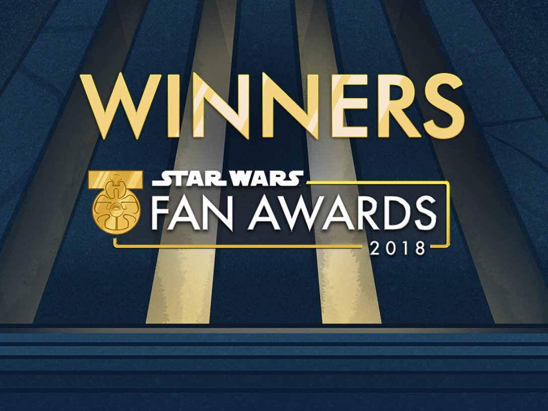 Star Wars Fan Awards 2018 winners banner.
