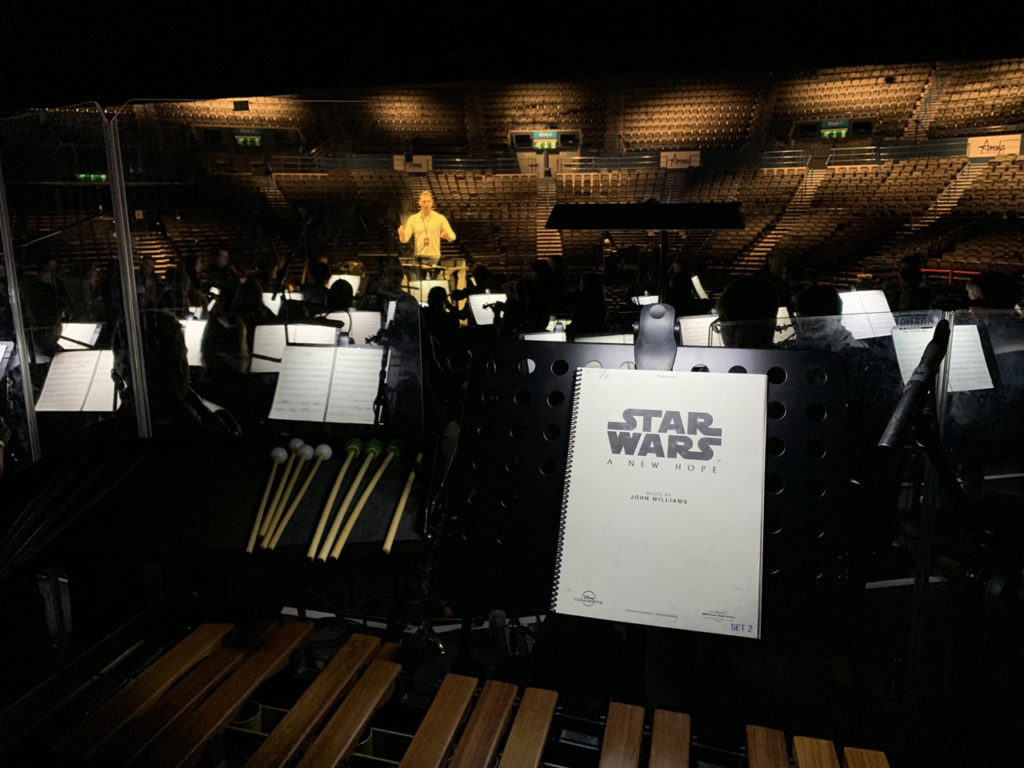 Star Wars Film Concert series rehearsal in Birmingham.