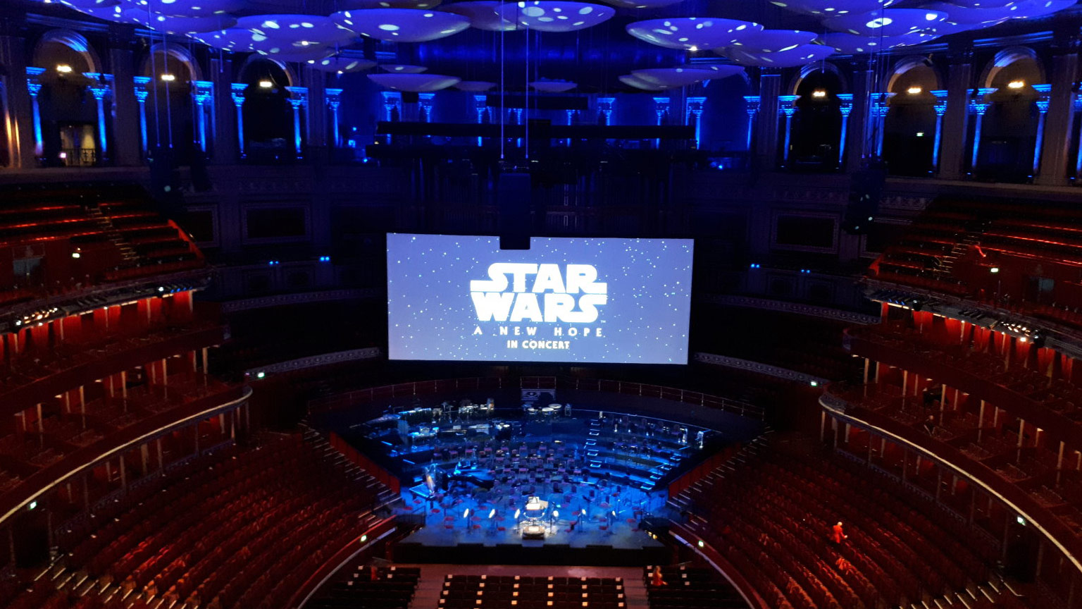 Star Wars Film Concert series at the Royal Albert Hall rehearsal.