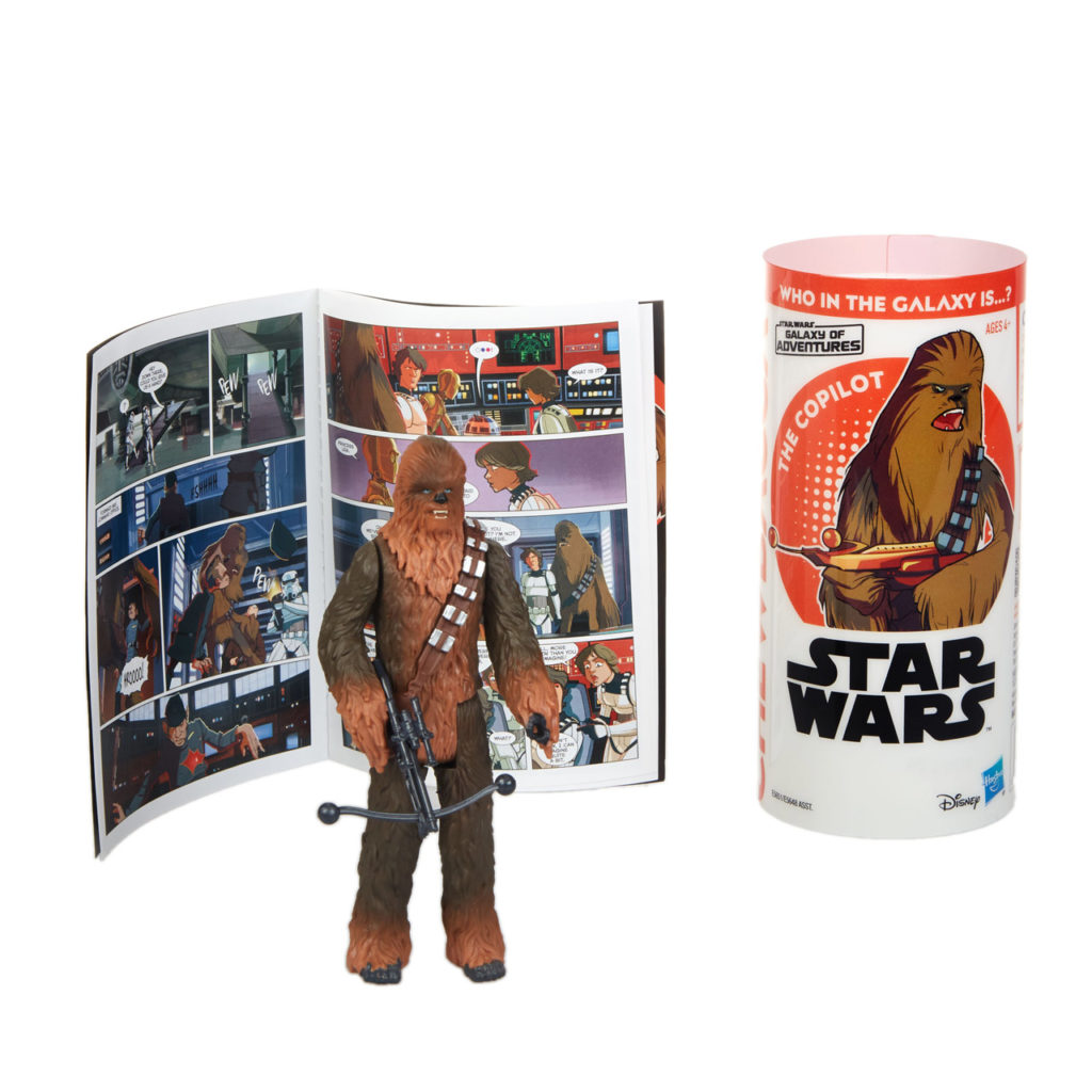 Star Wars Galaxy of Adventures Chewbacca figure.