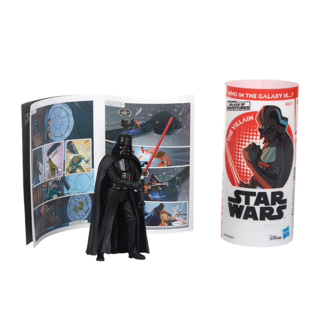 Star Wars Galaxy of Adventures Darth Vader figure.