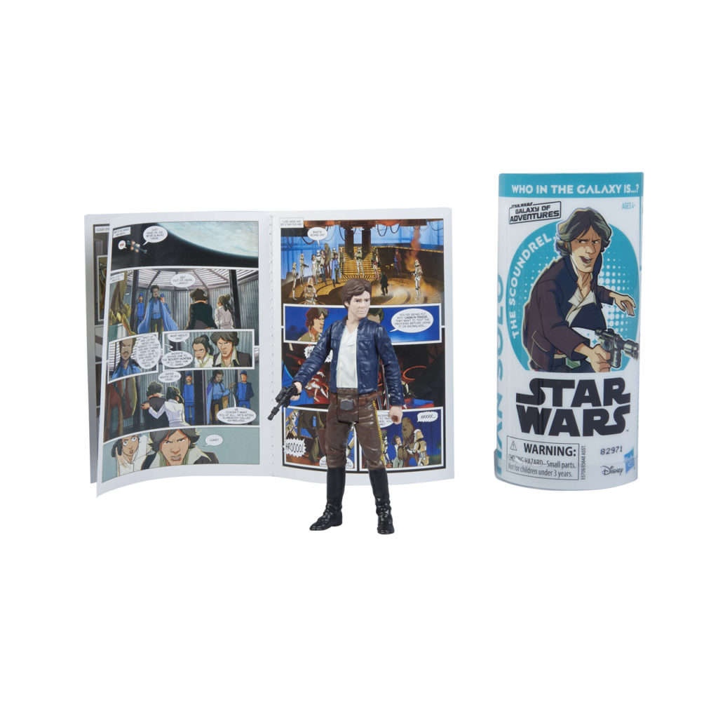 Star Wars Galaxy of Adventures Han Solo figure.