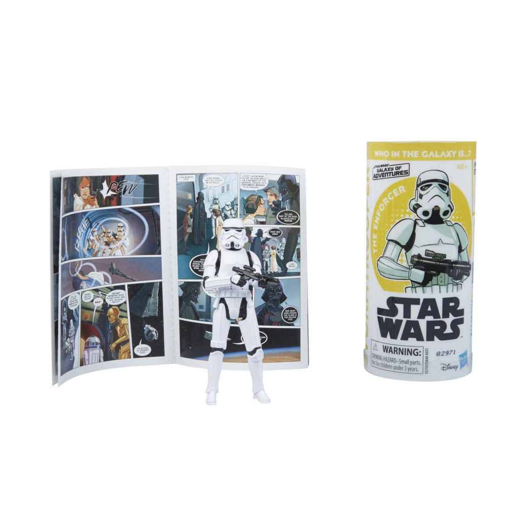 Star Wars Galaxy of Adventures Imperial Stormtrooper figure.