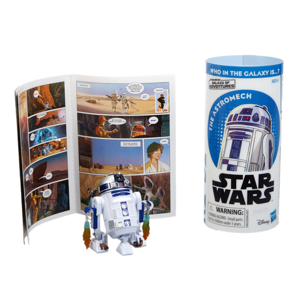 Star Wars Galaxy of Adventures R2-D2 figure.