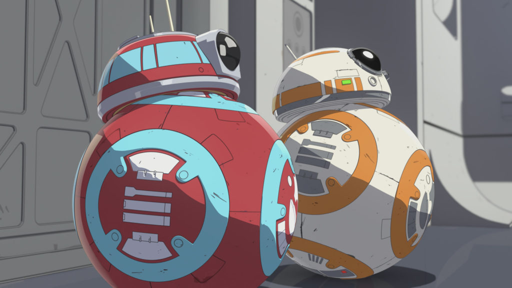 CB-23 and BB-8 in Star Wars Resistance.
