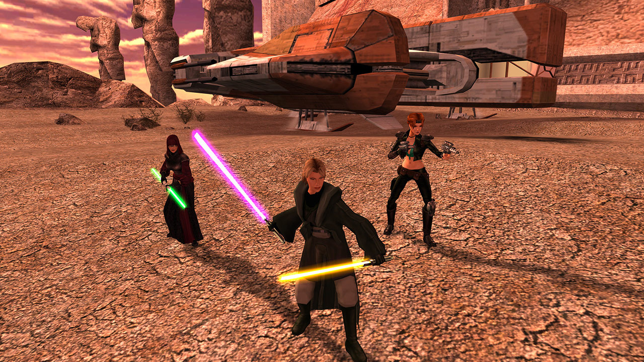Jedi in a screenshot from Star Wars Knights of the Old Republic II.