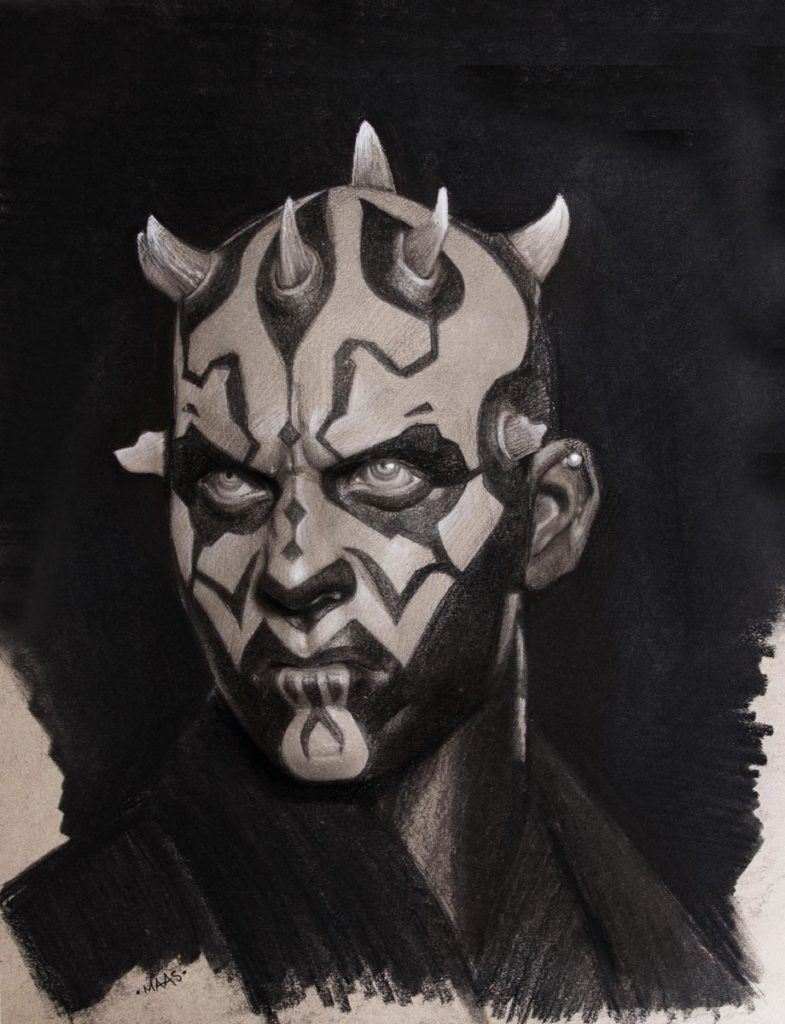Star Wars Fan Awards 2018 winning illustration of Darth Maul.