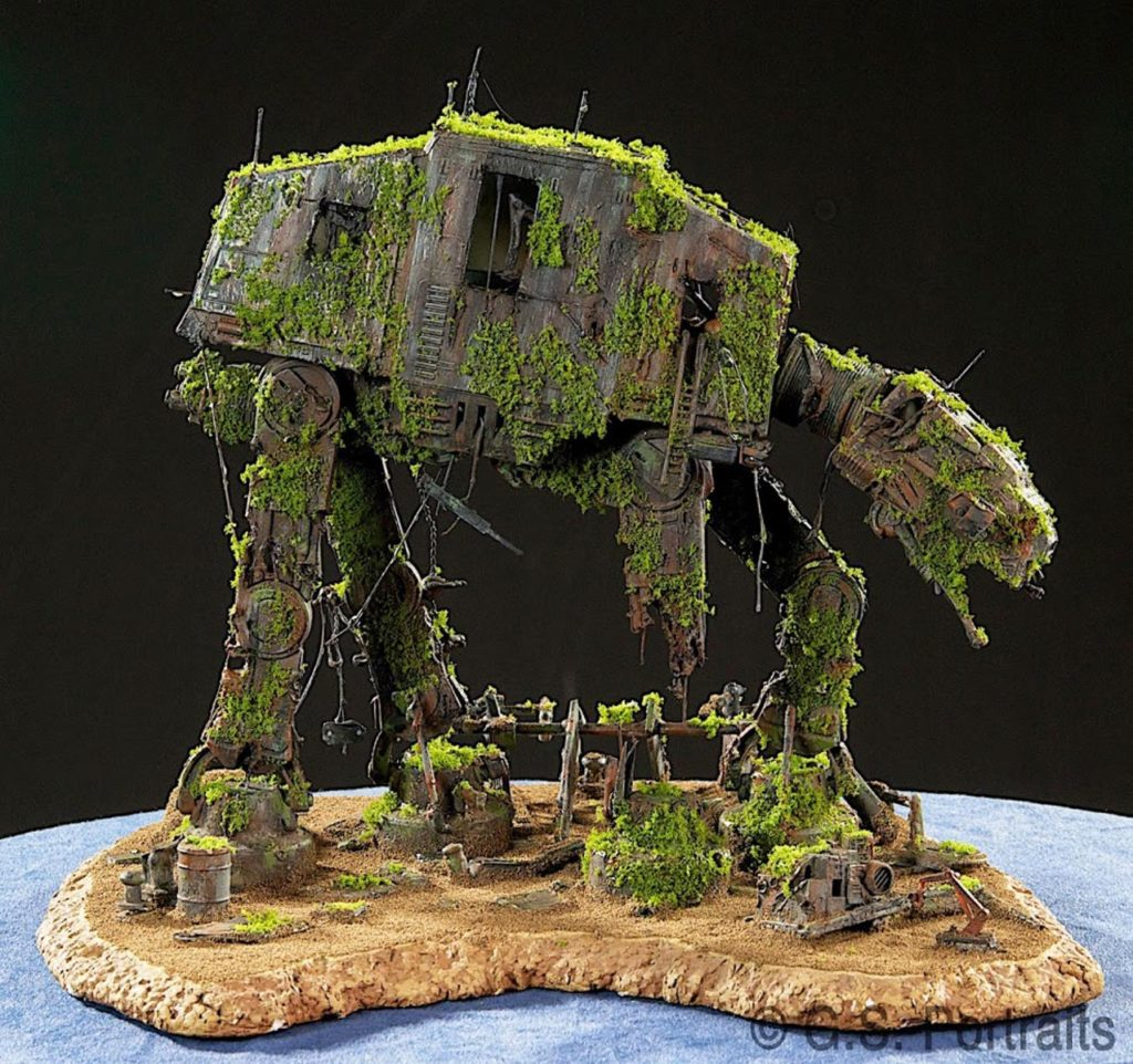 Star Wars Fan Awards 2018 winning Forgotten AT-AT diorama.
