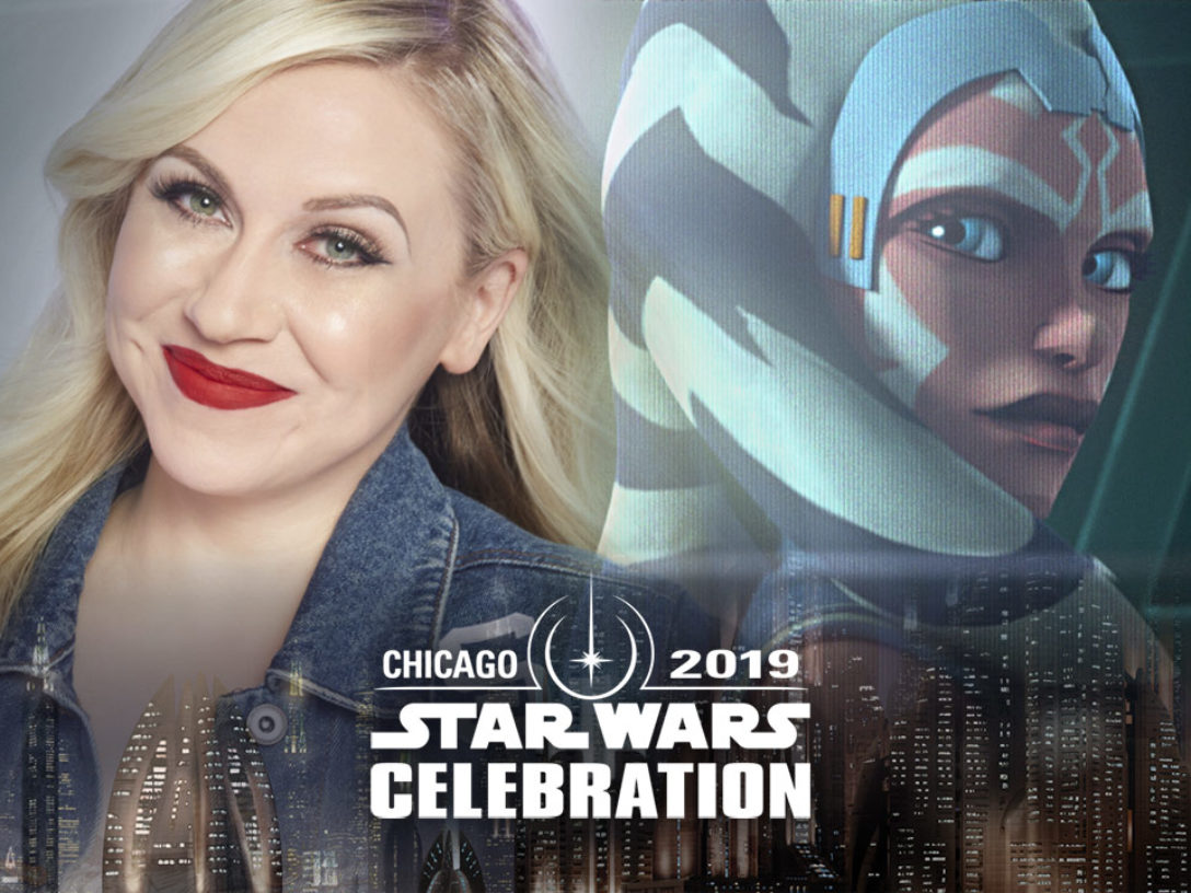 A montage of Ashley Eckstein and Ahsoka Tano for Star Wars Celebration Chicago.