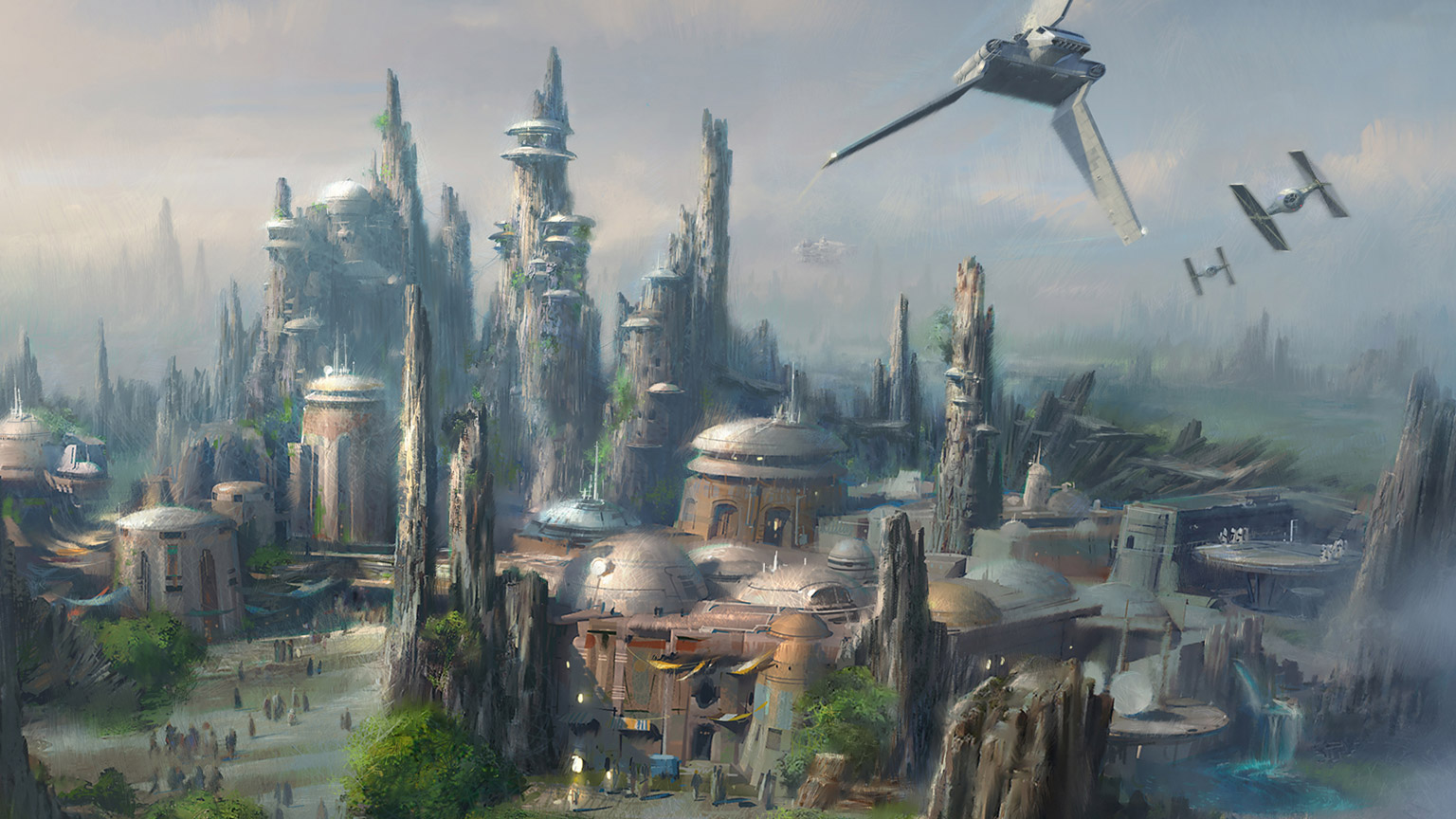 Concept art for Star Wars: Galaxy's Edge.
