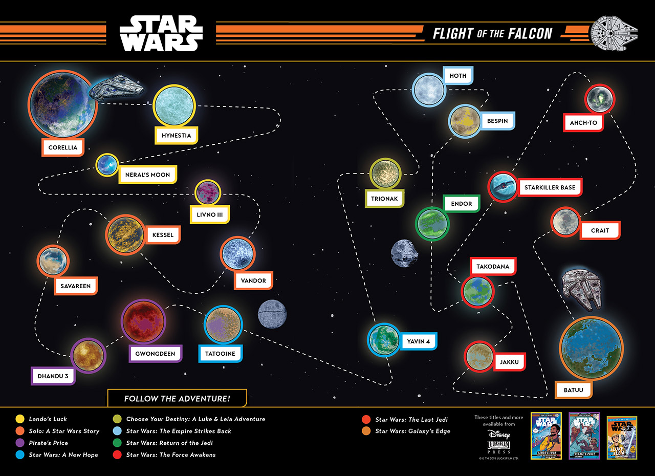 A map for the Flight of the Falcon series.