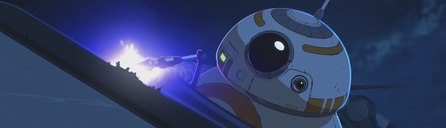 BB-8 repairs the Fireball in Star Wars Resistance.