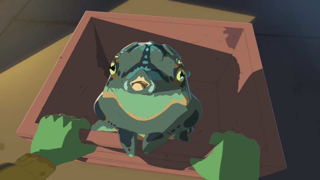 Bibo sits in a box in Star Wars Resistance.
