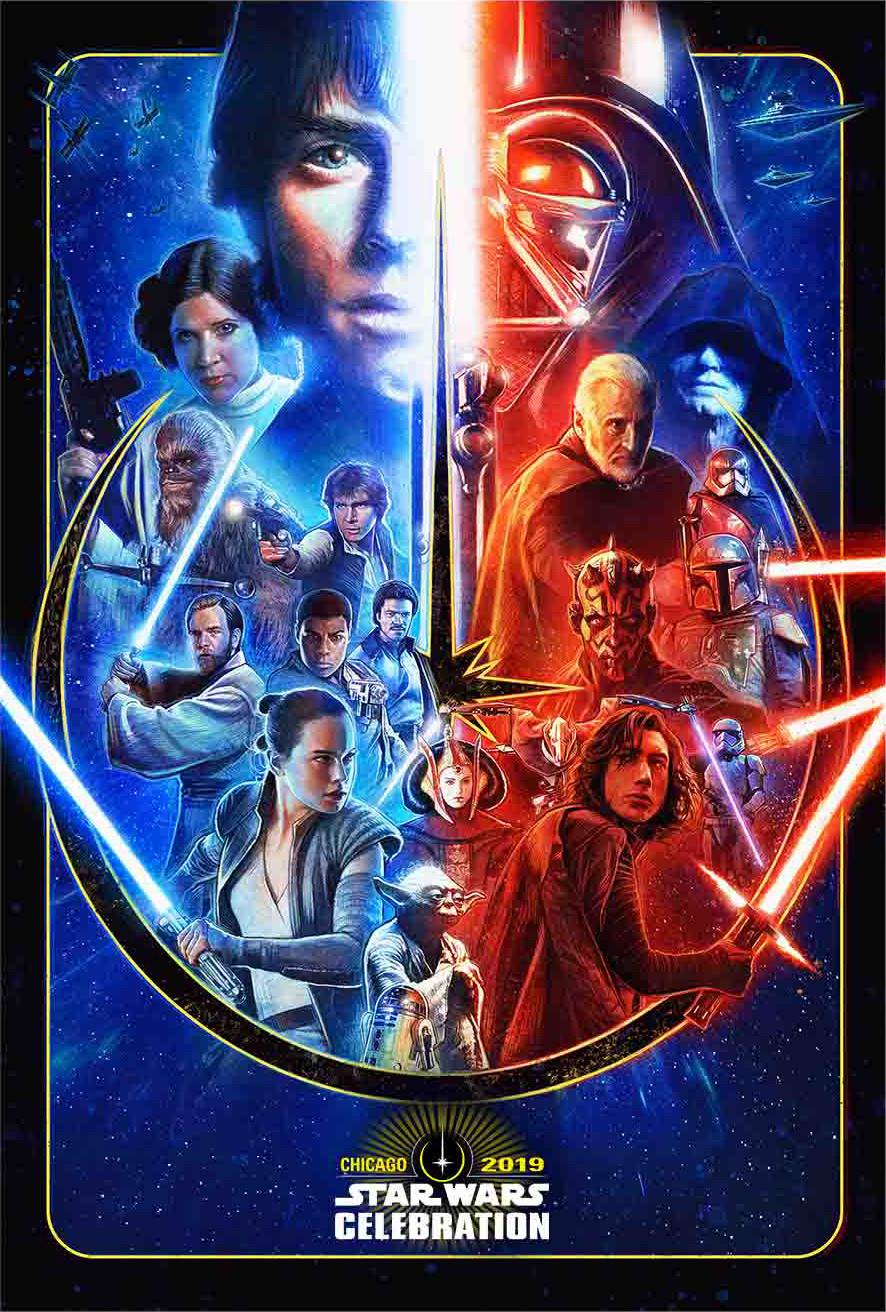 Star Wars Celebration Chicago 2019 key art.