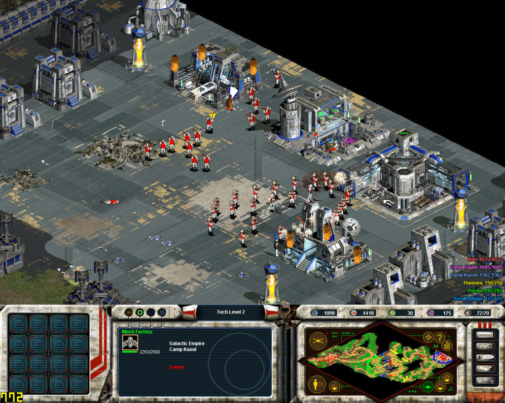 Star Wars: Galactic Battlegrounds screenshot featuring rebel soldiers.