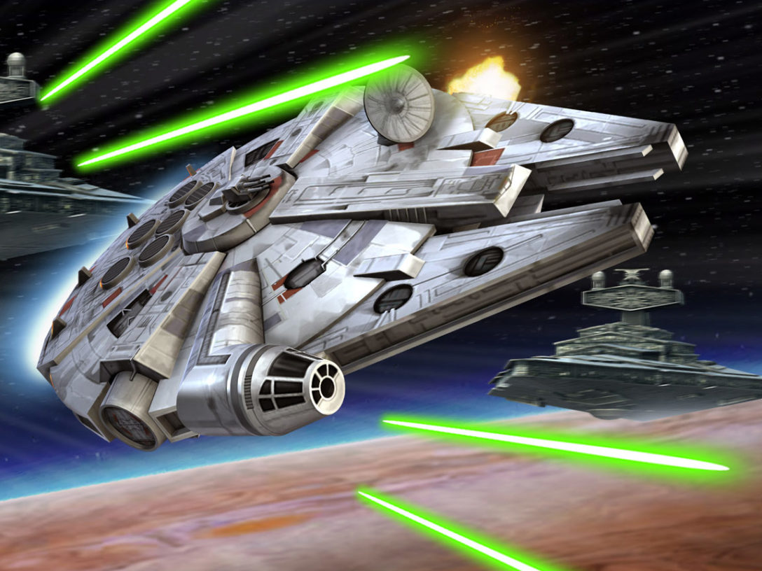 The Millennium Falcon from Star Wars: Galaxy of Heroes.