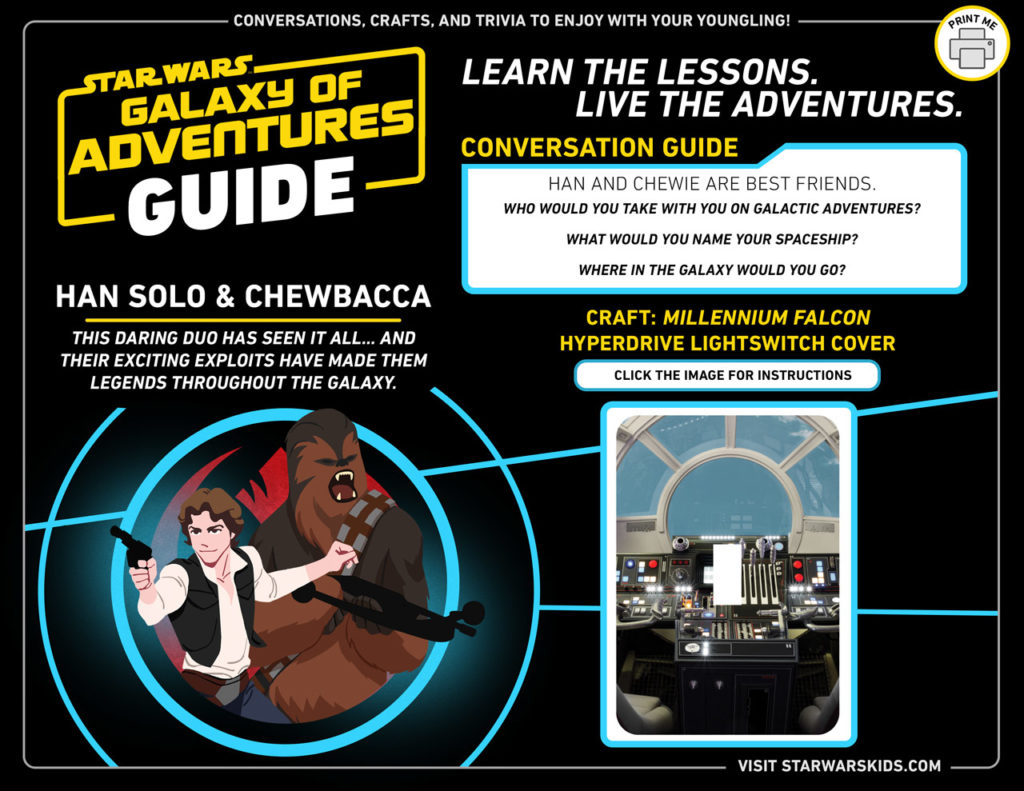 Star Wars Galaxy of Adventures Guide - Han and Chewbacca.