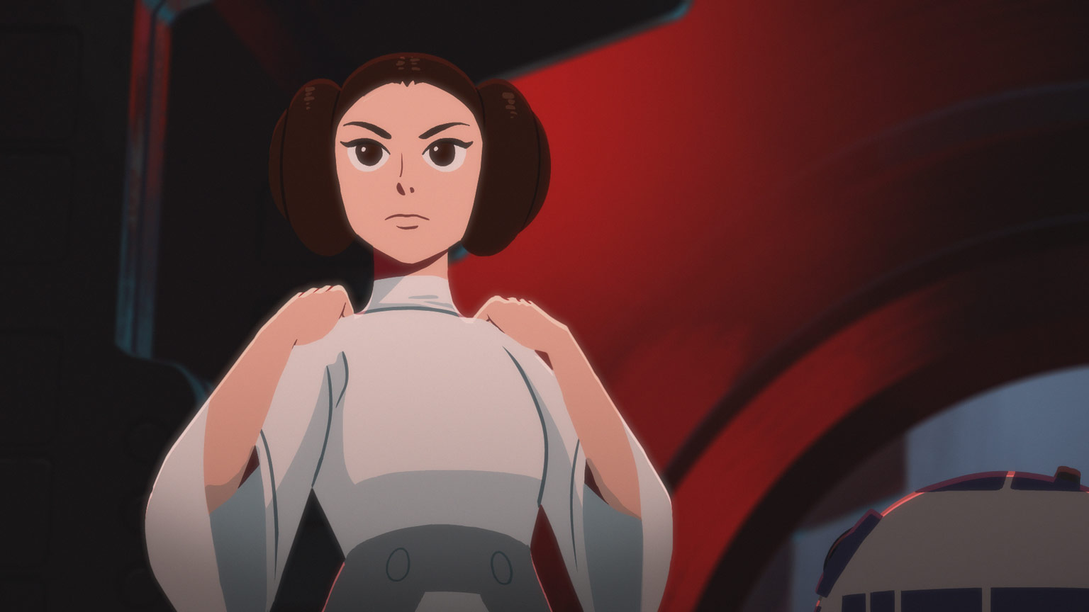 Princess Leia in Star Wars Galaxy of Adventures.