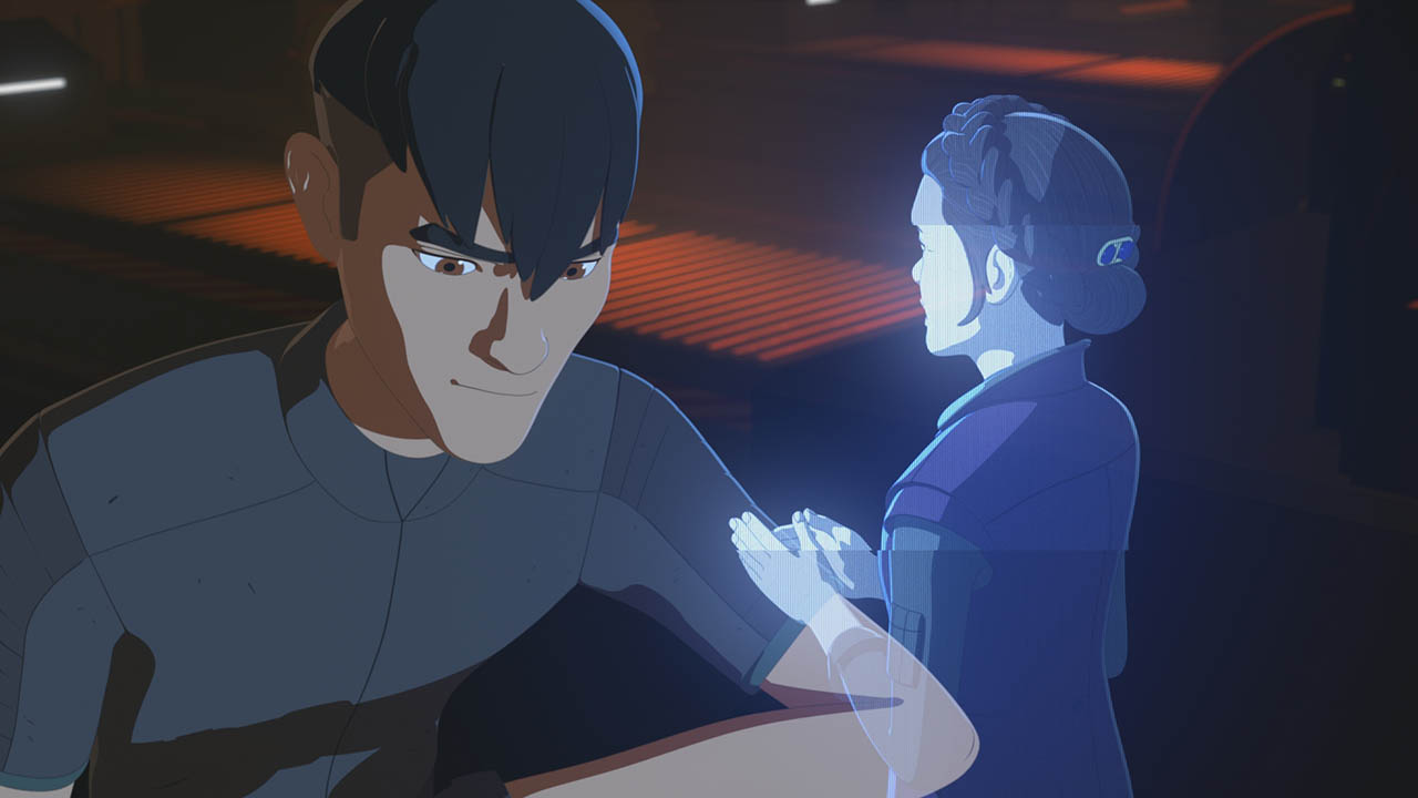 Kaz talks to Leia in Star Wars Resistance.