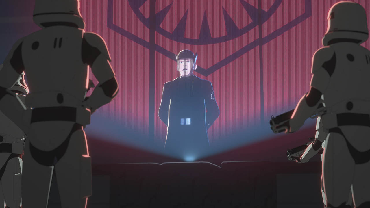Hux makes a speech in Star Wars Resistance.