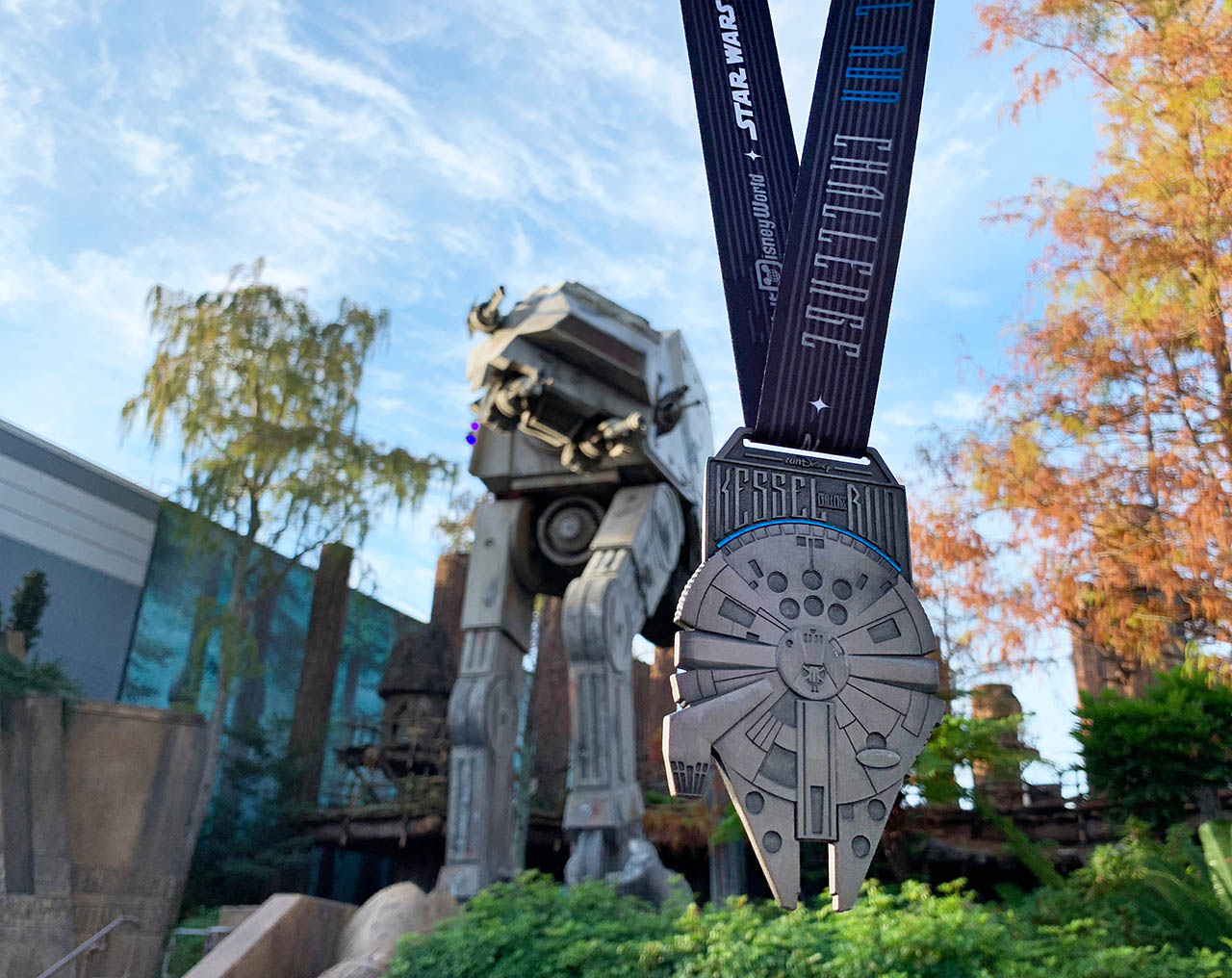 runDisney medal for the Kessel Run Challenge