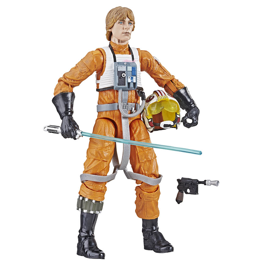 A Luke Skywalker Hasbro The Black Series action figure.