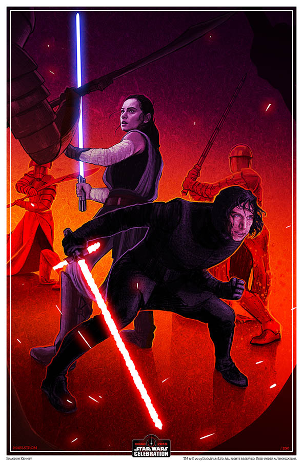 Star Wars Celebration 2019 Art by Brandon Kenney.