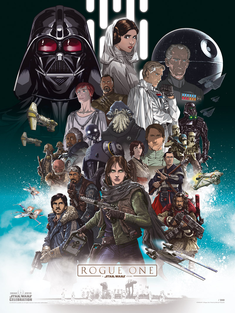 Star Wars Celebration 2019 Art by Michael Pasquale.