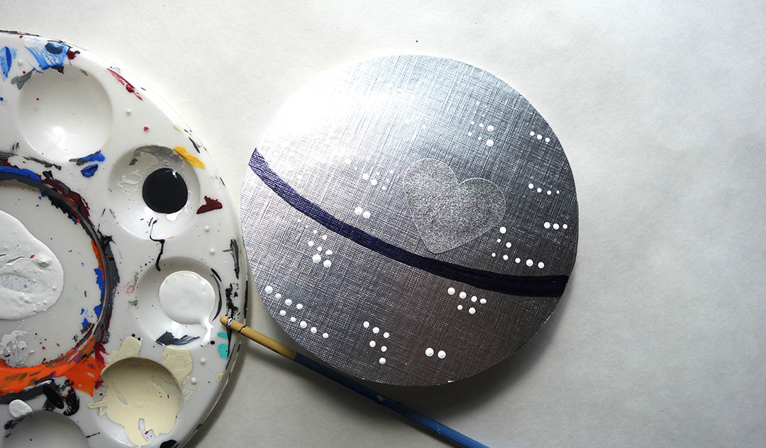 A Death Star Valentine's Day craft is made.