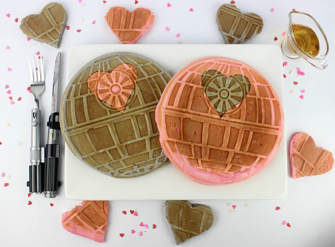 An easy Death Star waffles recipe for Valentine's Day.