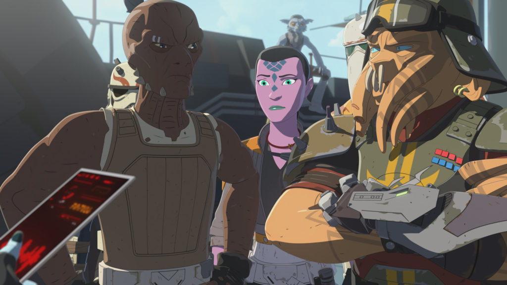 Synara and the pirates in Star Wars Resistance.
